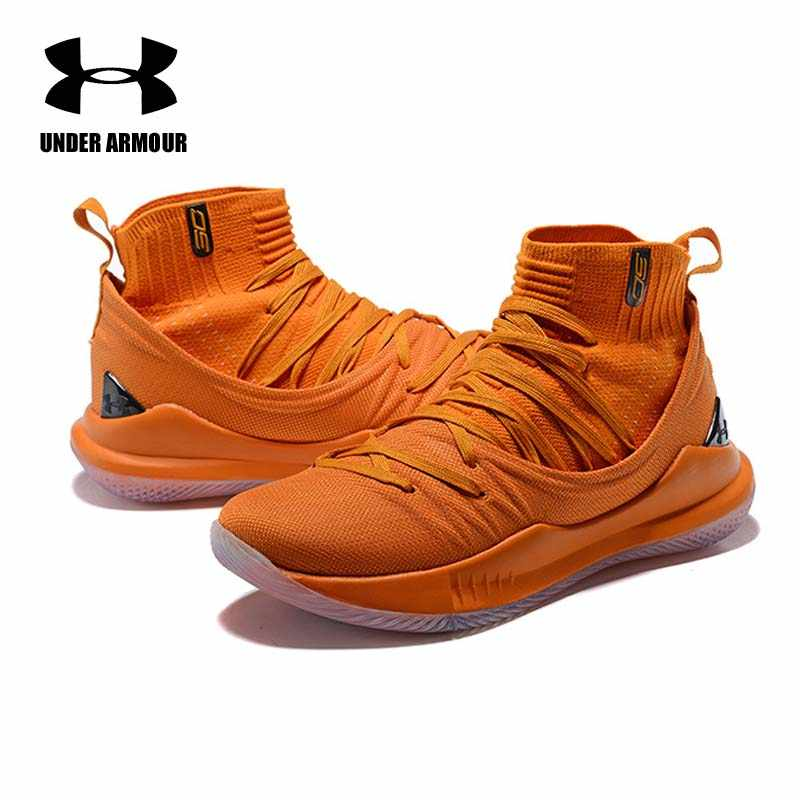 fc53578aa9d1 Under Armour Men Curry 5 Basketball Shoes stephen curry shoes tenis  basketball Fashion sock Sneaker Zapatillas
