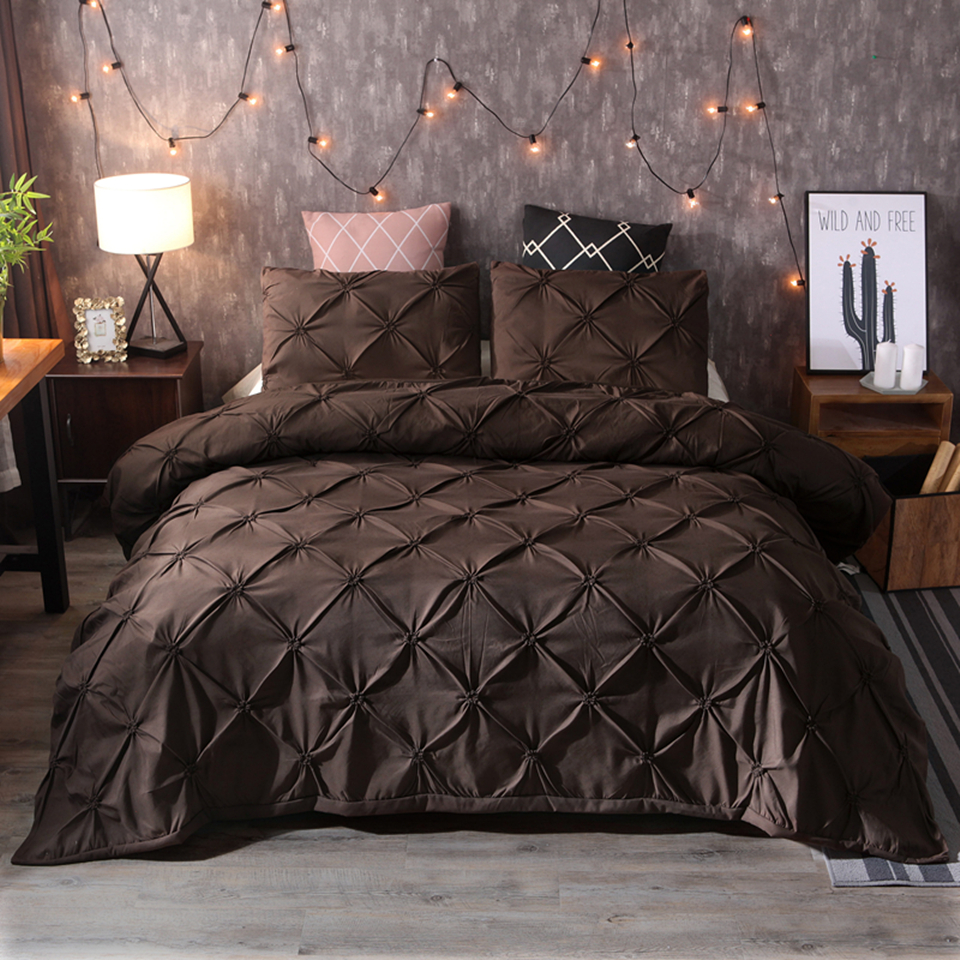 LOVINSUNSHINE Brown Duvet cover FLOWER queen/king bedding set comforter cover double bed linen Bedclothes solid bedding set