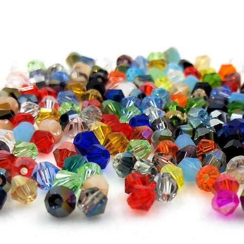 Новинка 5301 4 мм 1000 шт стеклянные кристаллы бусины биконус граненый свободный разделитель бисер бусины Fantas AB DIY Изготовление ювелирных изделий U выбор цвета - Цвет: 215