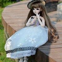 1/3 BJD куклы полный набор 24 дюймов девушка игрушки 18 мяч шарнирные куклы с платье парик одежда обувь макияж SD куклы