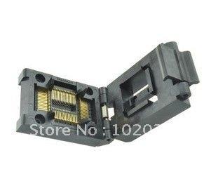 100% nouveau IC51-0644-824 TQFP64 QFP64 LQFP64 IC prise de Test/adaptateur de programmeur/prise de rodage (IC51-0644-824-5) 0.8 MM