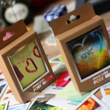 40 листов/коробка кассета мини карты счастливой жизни стиль мультфильм DIY карты подарочные карты чистая открытка поздравительные открытки