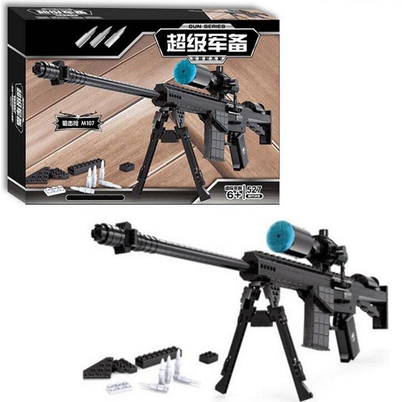 Sniper fusil pistolet désert aigle définit champs de bataille chiffres compatibles Ak47 armes à feu modèle blocs de construction enfants jouets