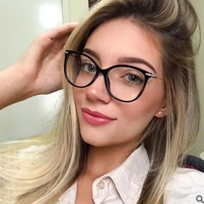 New Eyeglasses Frame Women Brand Retro Optical Clear Glasses Frame Trending Types Computer Fashion Glasses 2019