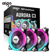 Aigo C5 PC Case Fan RGB 120mm Cooling Fan Adjustable Cooling Fan for Computer Mute Computer Cooler Fan Controller Ventilador PC