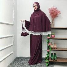 Muslim Black Face Cover Ramadan military Bonnet Islamic Khimar Long Loop Scarf Jilbab Prayer Clothing Headscarf Abaya
