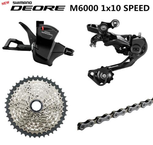 SHIMANO DEORE M6000 Groupset MTB Mountain Bike Groupset 1x10-Speed 11-42T M6000 Rear Derailleur Shift LeverSHIMANO DEORE M6000 Groupset MTB Mountain Bike Groupset 1x10-Speed 11-42T M6000 Rear Derailleur Shift Lever
