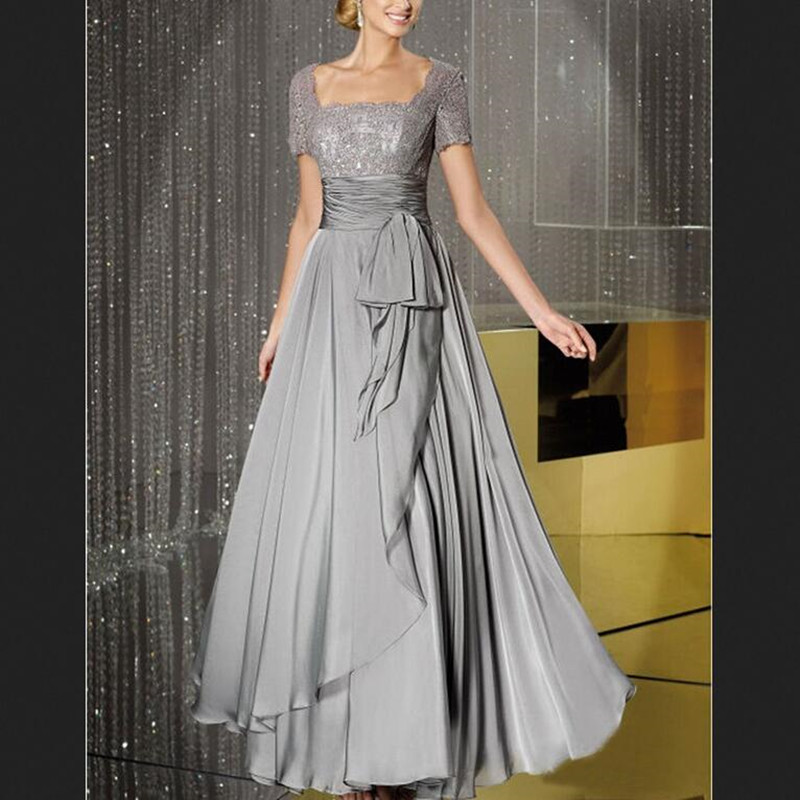 Mother Of The Bride Dresses 2017: 2017 New Gray Mother Of The Bride Dresses Elegant A Line