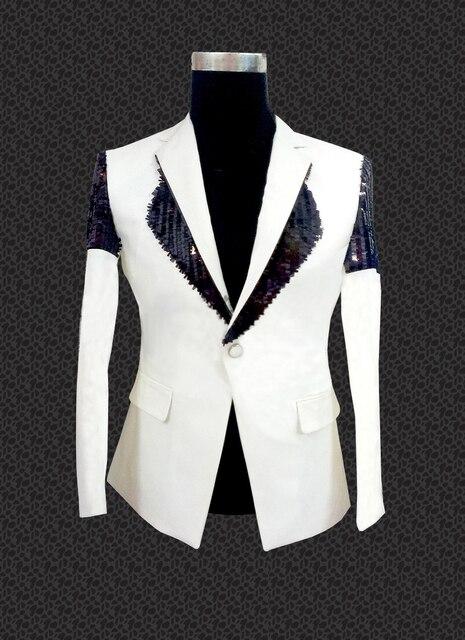 e0a8e40e Men White Party Clothing 2015 New Arrival Mens Sequin Blazer Black White Wedding  Party Club Prom