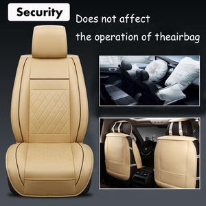 Image 2 - Cubierta Universal de 5 asientos para asiento de coche Protector de cojín delantero y trasero de cuero PU para la mayoría de los asientos del coche