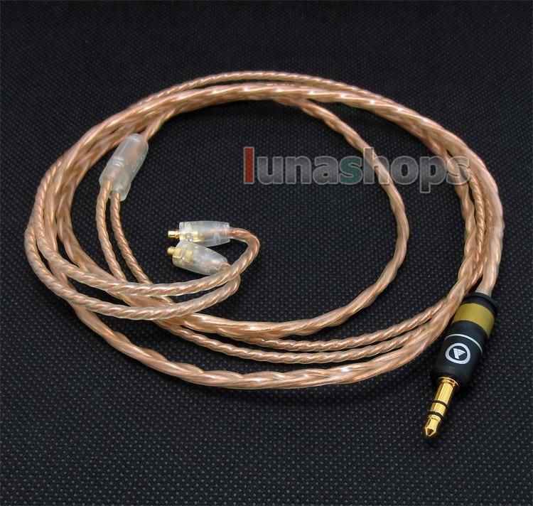 120cm Custom 6N OFC Cable For Shure se535 Se846 Ultimate UE900 earphone headset LN004151