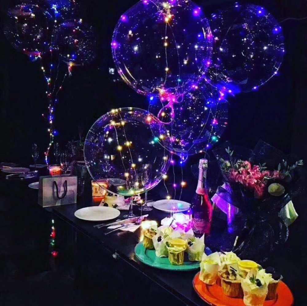 1 Набор, 18, 24 месяцев 36 дюймов светодиодный световой шар 3 м светодиодный воздушный шар гирлянды пузырь гелиевые шары для свадьбы и дня рождения вечерние украшения