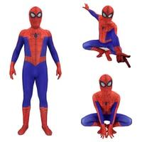Spider Man Into the Spider Verse Peter Benjamin Parke Cosplay Costume Zentai Spiderman Superhero Pattern Bodysuit Suit