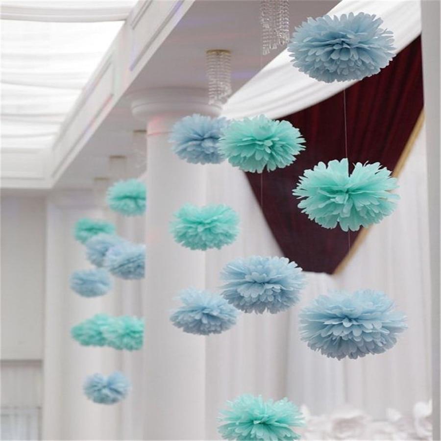 50 Pcs 10 Inch Tissue Paper Pom Poms Wedding Paper Flowers Party