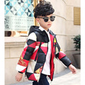 Plaid Boys Parka 2016 New Childen Winter Jackets for Boys Hooded Down Jackets Coats Warm Kids Baby Thick Cotton Down Jacket