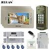 JERUAN Home 7 Inch Color Video Door Phone Intercom System Kit NEW Metal Waterproof Access Password