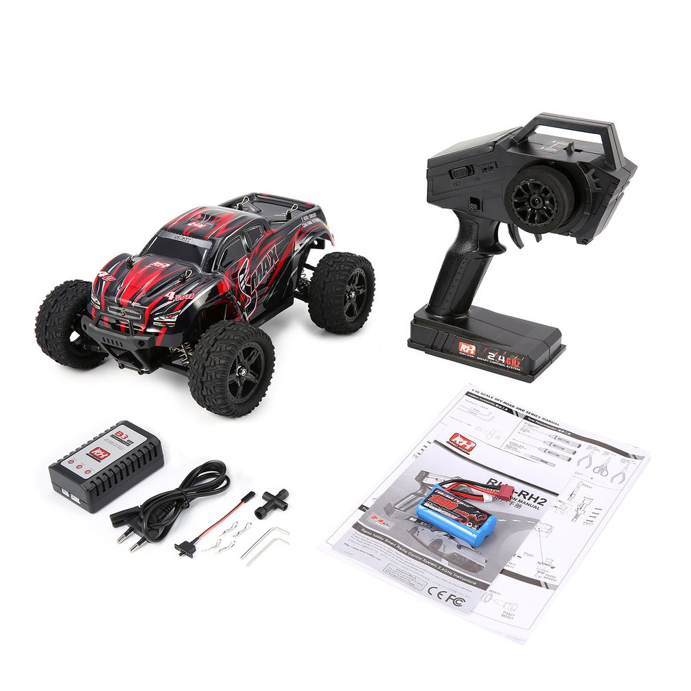 все цены на REMO 1631 1/16 Scale 2.4G 40km/h High Speed 4WD Brushed Off-Road Truck Big Wheels Bigfoot SMAX RC Car Remote Control Kids Gift