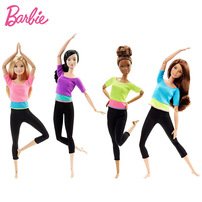 Original Classic Barbie Made To Move 22 Jointed Dolls Articulated Christmas Birthday Gifts Girls Toys Genuine Barbie Dolls