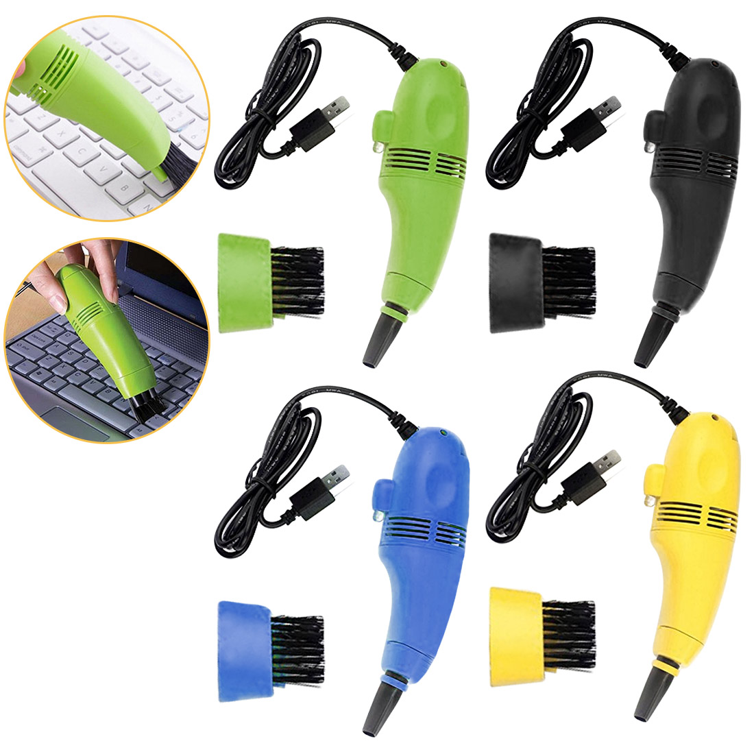 USB Vacuum Cleaner Designed For Cleaning Computer Keyboard For Notebook Laptop Tablet PC