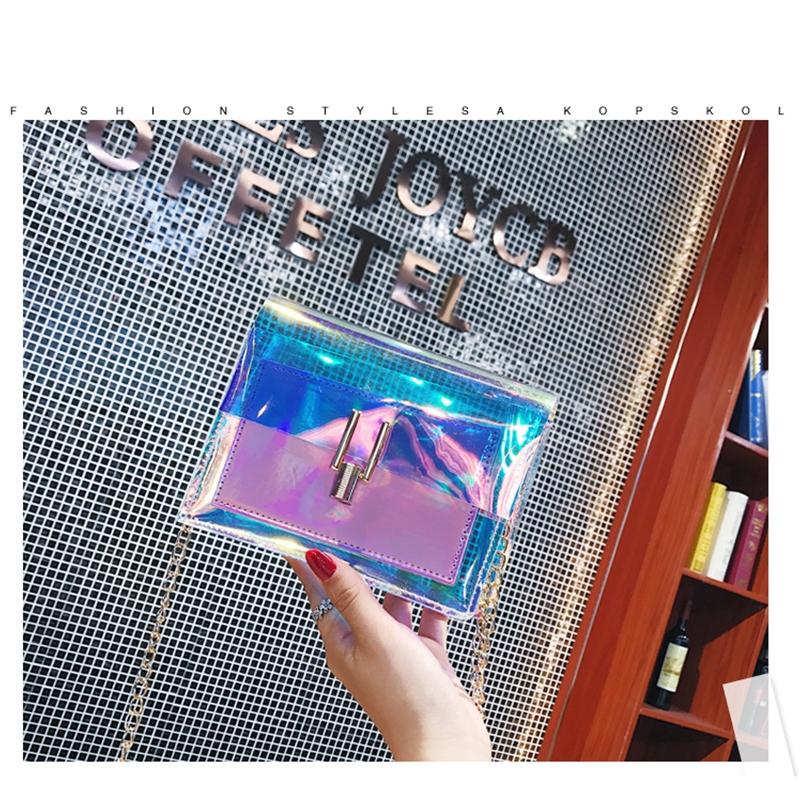 JIAOO Laser Transparent Bags Fashion Women Crossbody Bags for Women Korean Style Shoulder Bag Messenger PVC Waterproof Beach Bag 12