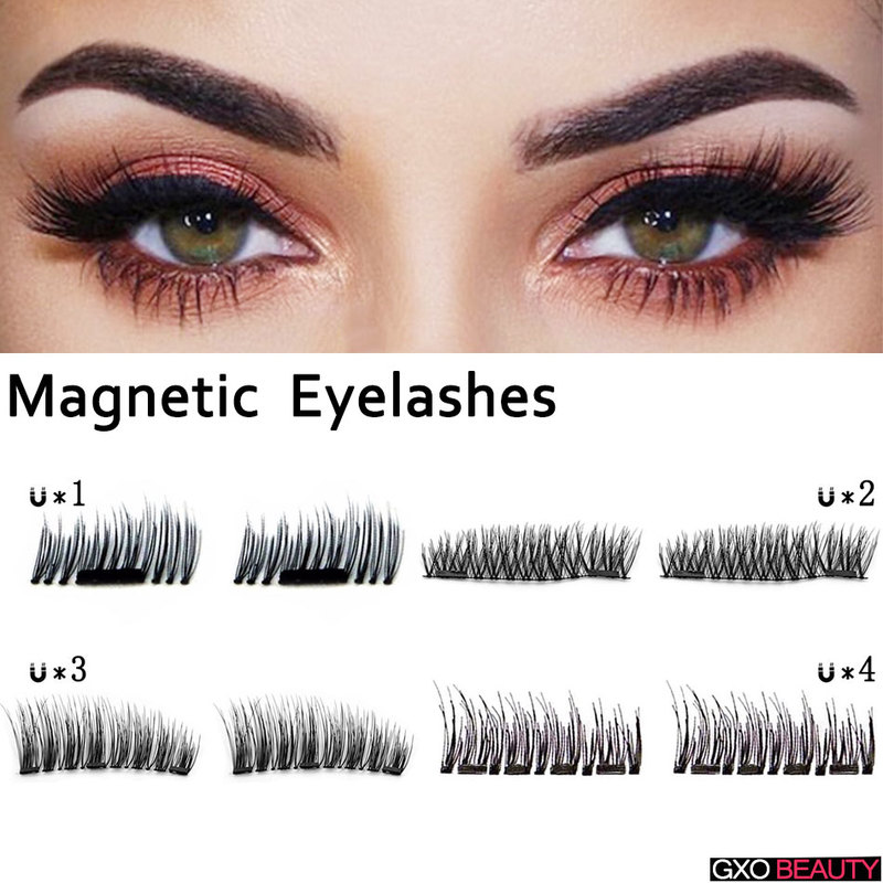 19acafd9ba8 GXO BEAUTY Magnetic Eyelashes 3D Magnet Lashes Handmade Natural Eye Lashes  Extension Tools