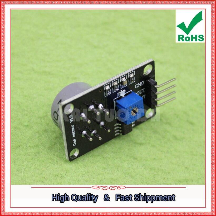 Free Shipping 2pcs module MQ-7 carbon monoxide gas sensor detection alarm module A.D.N SB horizontal (C7B5