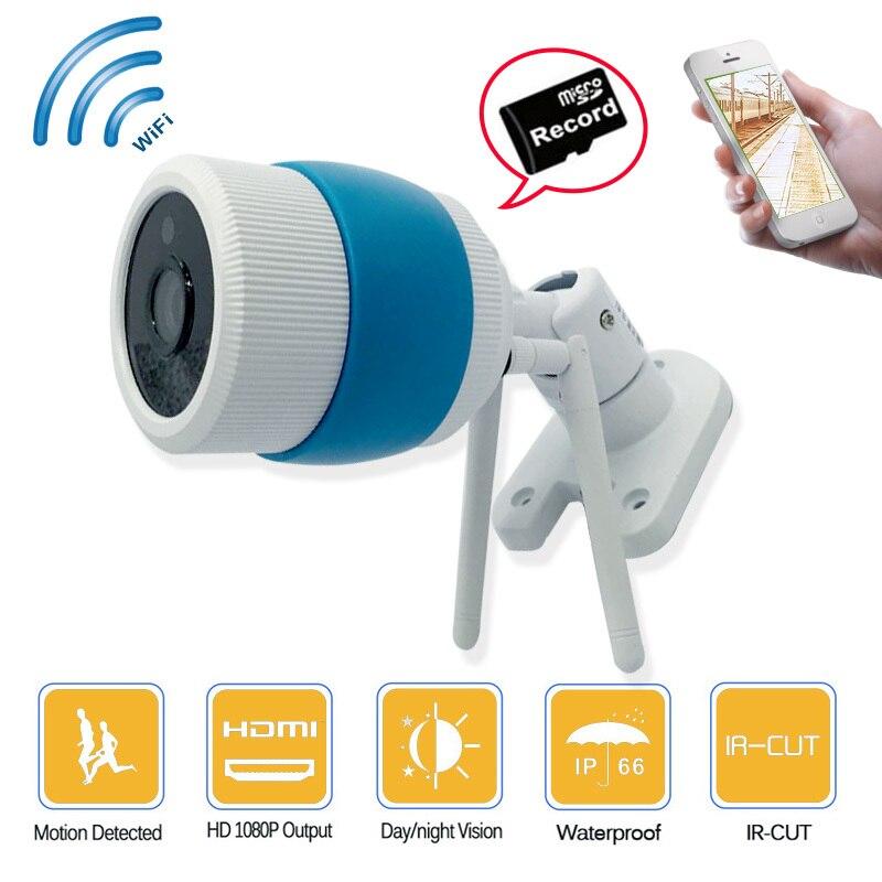 HD Sans Fil balle Caméra De Sécurité IP 1080 p pour intérieur ou Extérieur WiFi Double Carte de TF de Soutien, boîtier en Alliage d'aluminium, Yoosee APP