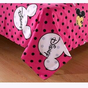 Image 5 - ديزني ميكي ماوس حاف مجموعة غطاء 3 أو 4 قطع كامل التوأم حجم واحد طقم سرير للأطفال ديكور غرفة نوم أغطية سرير