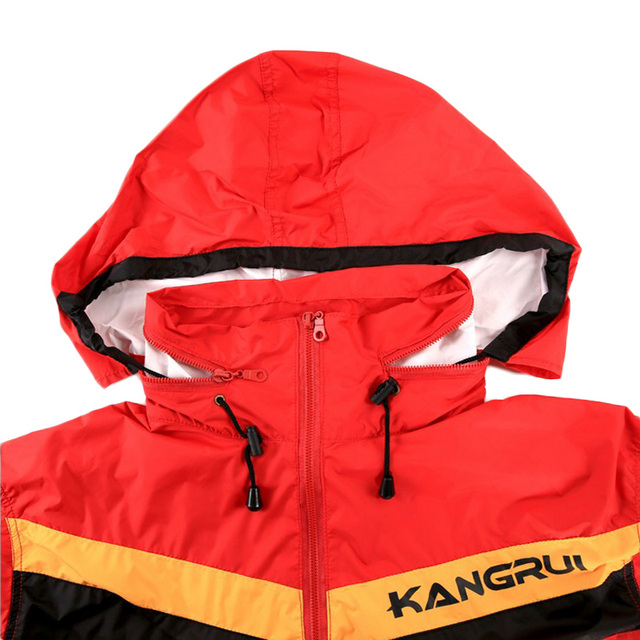 Red Black Waterproof airproof Sweat coat sauna suit men women running sport fitness uniform lose weight reduce weight clothes 3