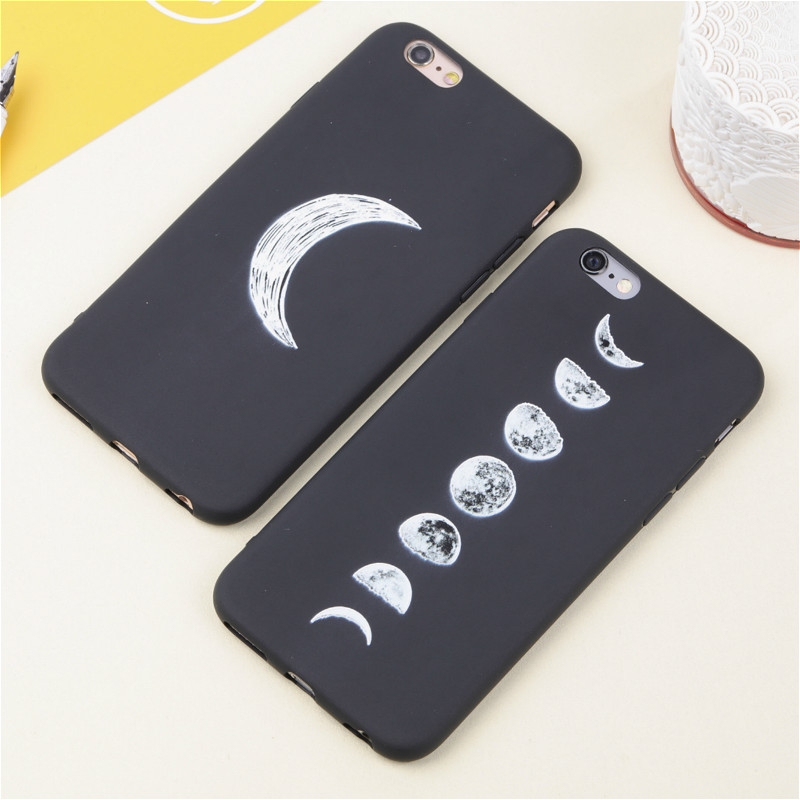 3D Relief Space Eclipse of the Moon Soft Slim Coque Case for IPhone 5 6 7