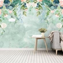 Custom Wallpaper Watercolor-Painting-Flowers Garden Tapeta Mural Background-Wall Beibehang