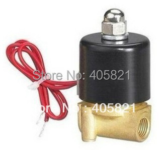 3/8 Electric Solenoid Valve Water Air N/C All Brass Valve Body 2W040-10, DC12V AC110V 5pcs lot x 2w 200 20 3 4 inch brass electric solenoid valve water air fuels n c dc 12v