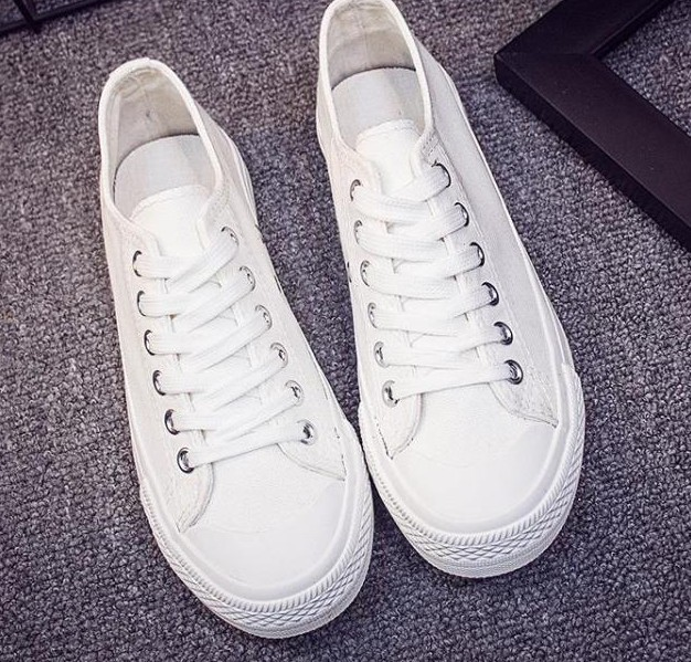 Maggie's Walker Fashion Canvas Shoes Lace-up Fashion Shoes Low Top Candy-colored  Breathable Casual Shoes Size35-40