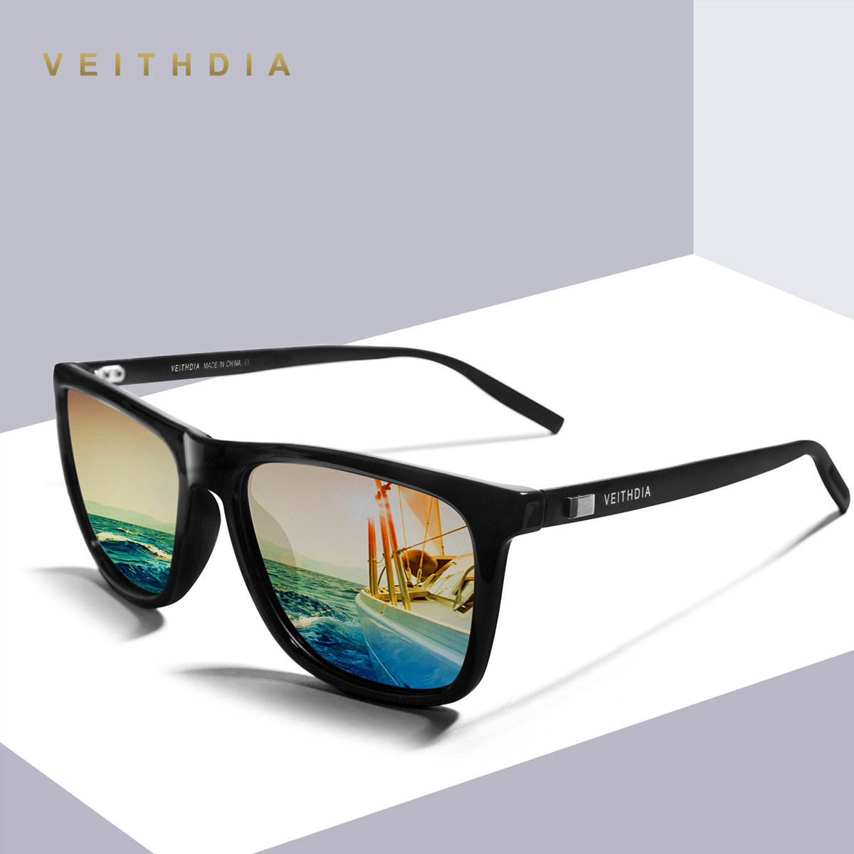 Lentes polarizados marca Unisex Retro de aluminio + TR90 cuadrado gafas de  sol polarizadas lente gafas 248fecbf40