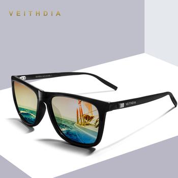 VEITHDIA marka Unisex Retro aluminium + TR90 kwadratowe soczewki polaryzacyjne do okularów Vintage akcesoria do okularów okulary przeciwsłoneczne dla mężczyzn kobiet tanie i dobre opinie Pilot Dla dorosłych Lustro UV400 Antyrefleksyjną Spolaryzowane Poliwęglan 6108 58mm 45mm
