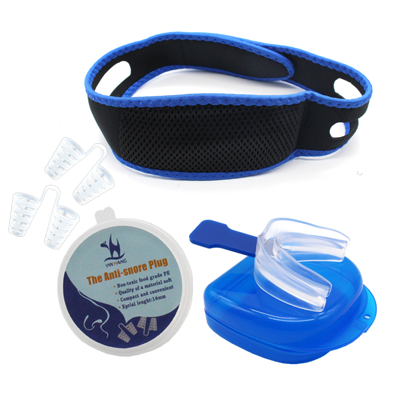 Anti-snore Nose Purifier Nasal Dilators Breathe-Easy AntiSnore Chin Strap Anti Snore Mouthpiece Stop Snoring Cone Congestion Aid