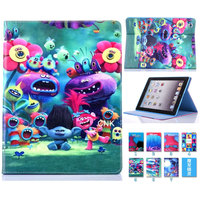 Fashion Child Magic Wizard Cartoon Flip Stand Leather Case For Apple IPad Air Stand Case For