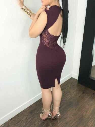 المرأة النبيذ الأحمر ضئيلة مثير الجوف خارج ضمادة Bodycon أكمام مساء حزب كوكتيل نادي قصيرة البسيطة اللباس