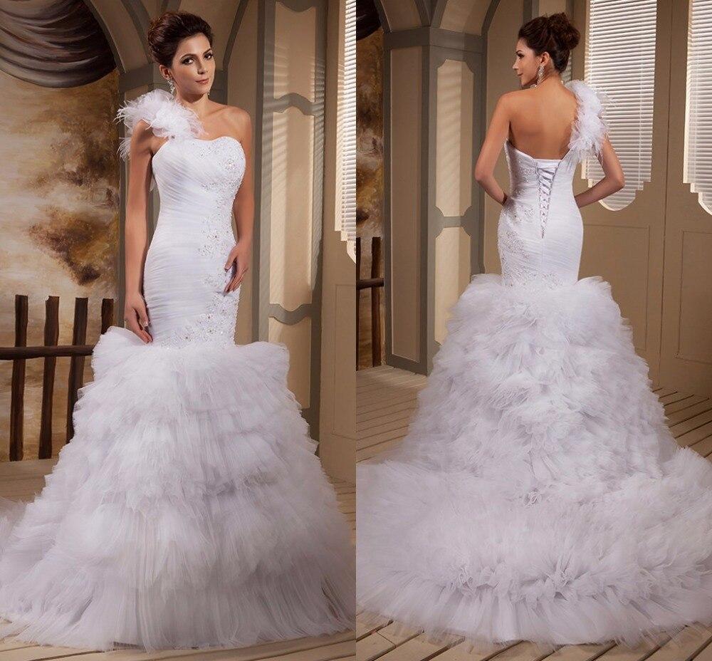 Vestidos De Novia 2017 New Designer Mermaid One Shoulder Wedding ...
