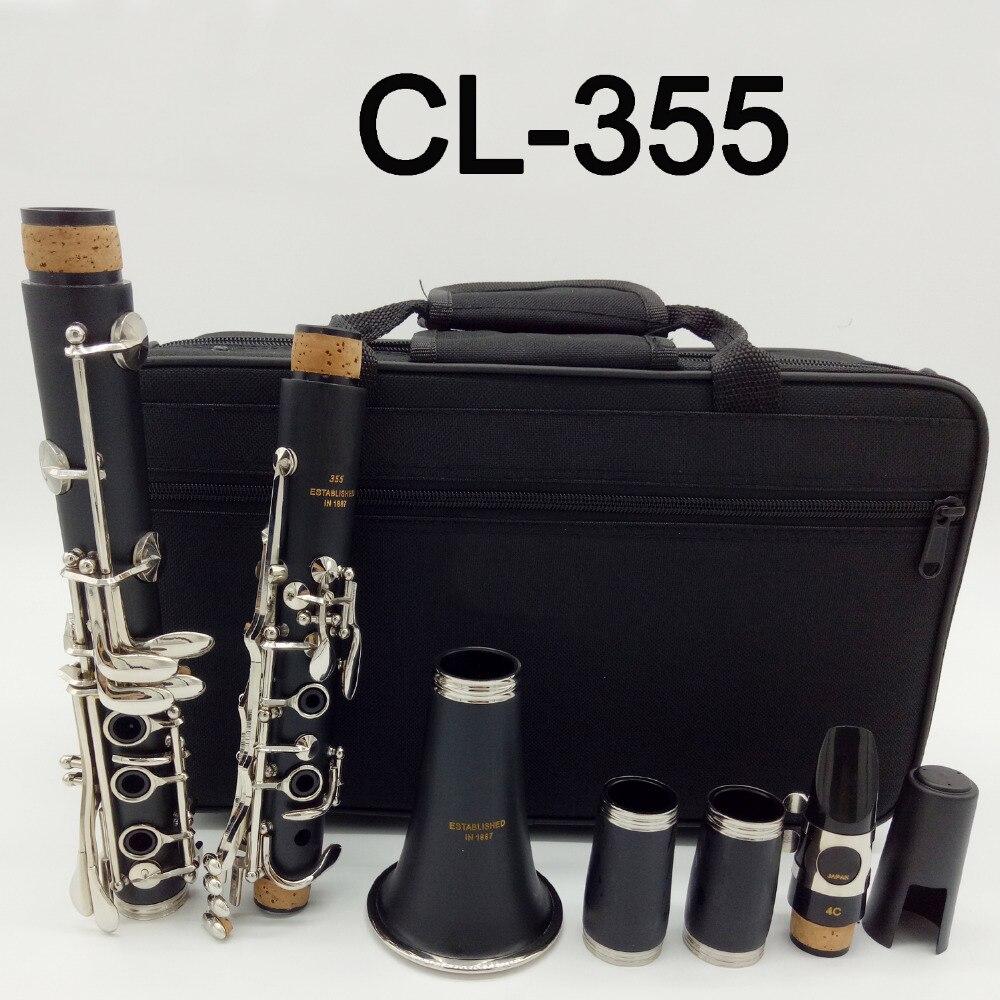 Clarinette étudiant CL-355 Bb résine ABS mate clarinettes bakélite embout 4C inclus étui + anches clarinetto instrument à vent de bois