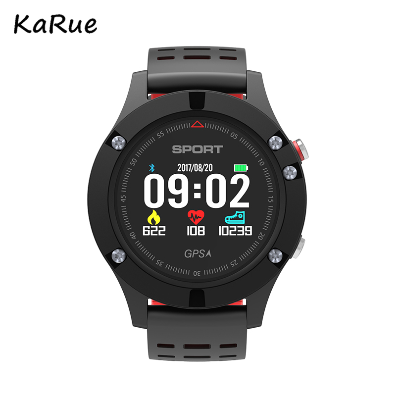 Karue F5 GPS Smart watch Altimeter Barometer Thermometer Heart Rate Monitor Wristband Supprot Siri for Android iOS