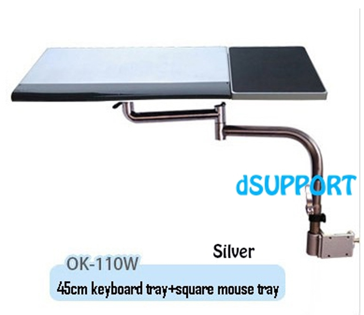 Multifunctoinal Full Motion Desk Edge /Table Side /Chair Leg Clamping Mouse Pad /Keyboard Tray Holder Laptop Desk Notebook Stand ok 110 full motion desk edge table side chair leg clamping mouse pad keyboard tray holder laptop desk notebook stand