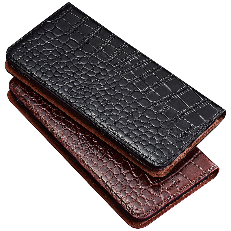 HY11 Crocodile pattern genuine leather flip case for Samsung Galaxy A8 2018 phone case for Samsung