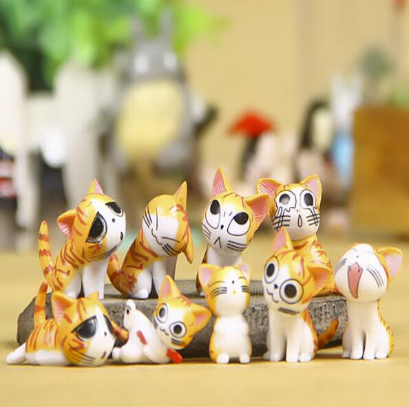 Christmas Birthday Gifts Japan Anime Figure Cheese Cat Doll Toy Figures 9pcs Lot In Action From Toys Hobbies On Aliexpress