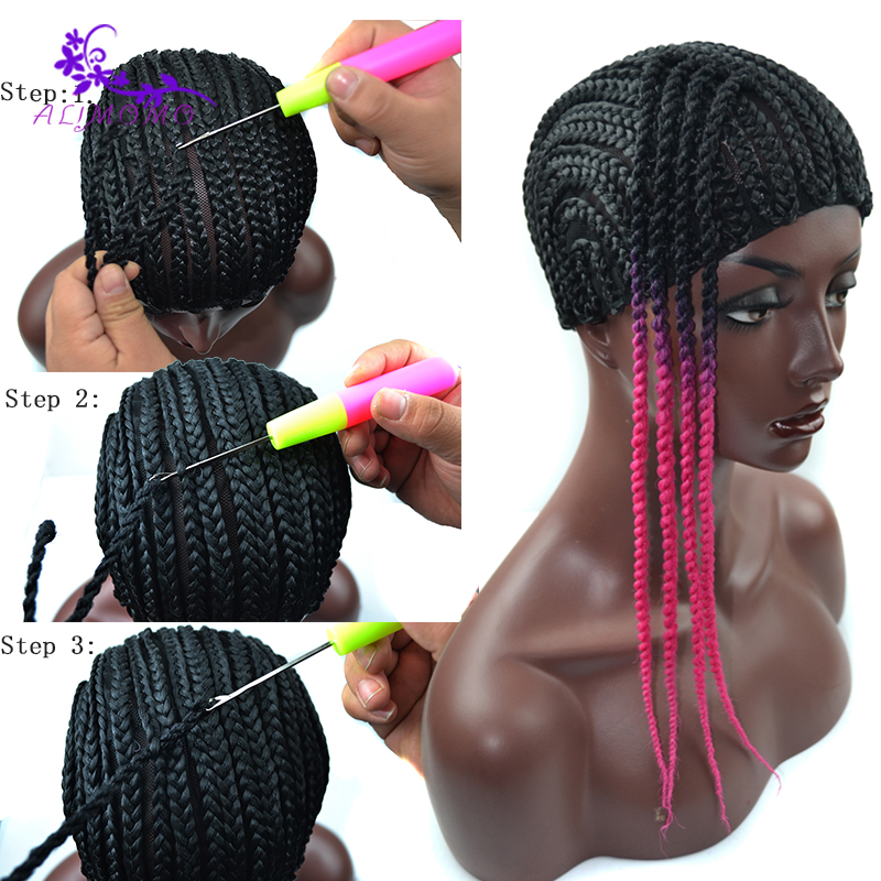 Popular Black Cornrow Wig Caps For Making Wigs With