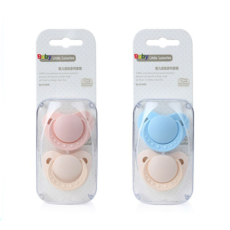 2pc/pack Baby Silicone Bpa Free Animal  Pacifiers 1 Loaded Bebe Pacifiers Nipples Teether Baby Pacifier Care