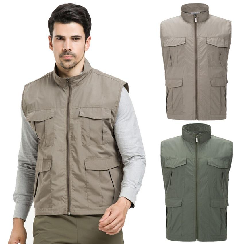 4XL férfi szabadtéri sport ujjatlan kabátok tavaszi gyors száraz - Sportruházat és sportolási kiegészítők