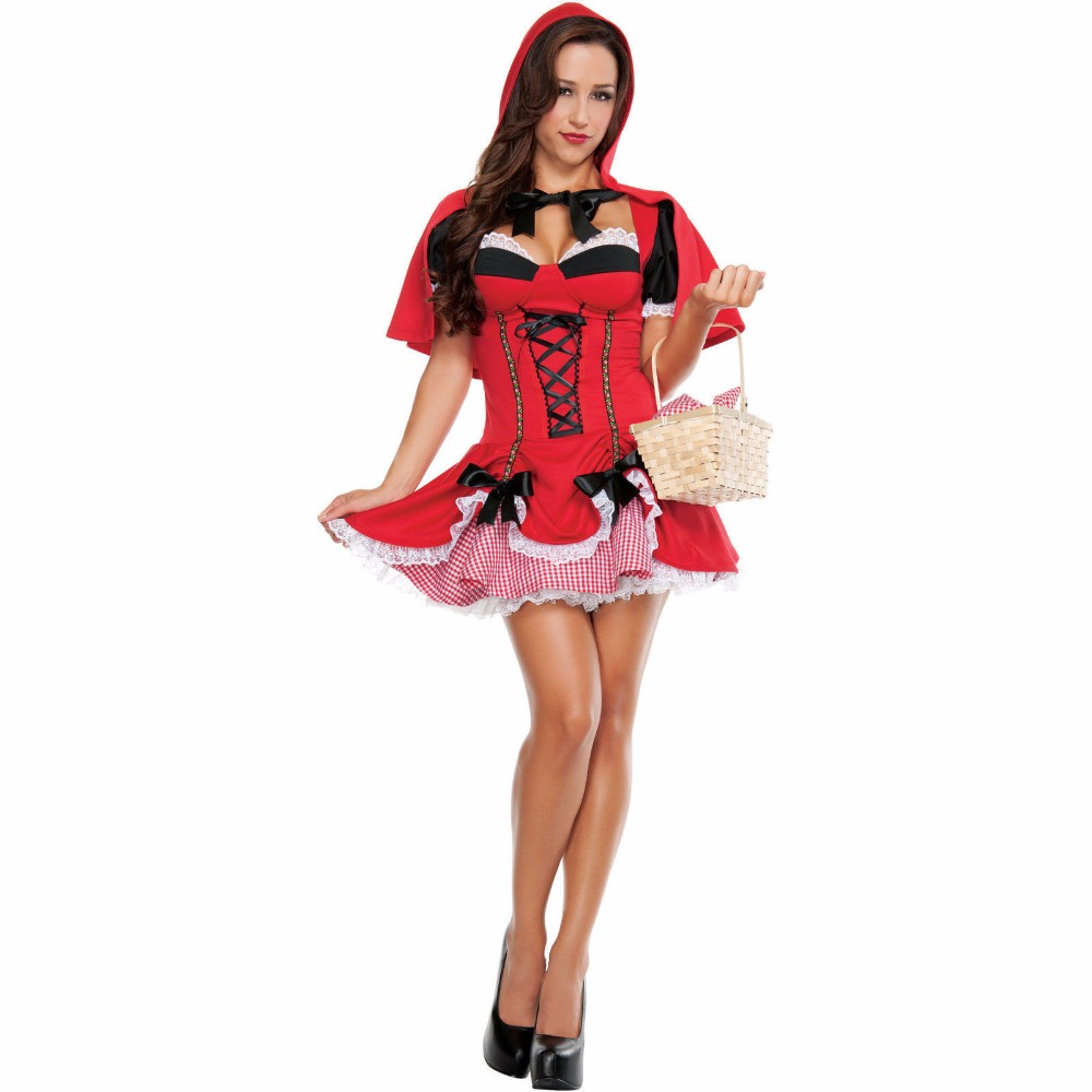 halloween little red riding hood costume sexy ladies cosplay lingerie women halloween costumes for women - Halloween Costumes Prices