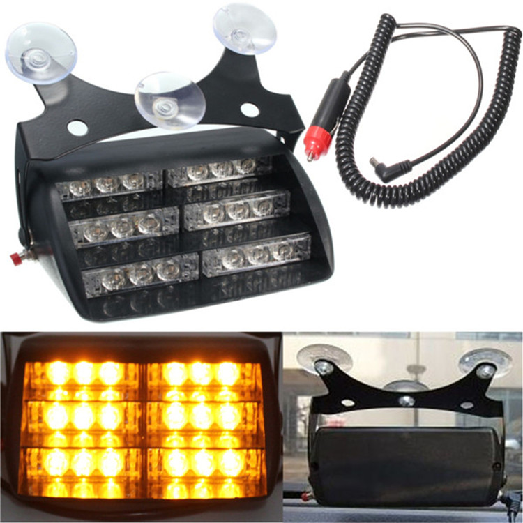 Car Styling 18LED Bar Strobe Lights Car LED Flash Lamps Mini Lightbars /Red and Blue Flash Dash Lights/Amber Emergency Lightbars 50w 25 led red