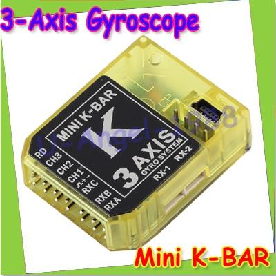 KBAR MINI K-BAR YELLOW K8 three-axis gyroscope 3 Axis Gyro Flybarless PK VBAR B8 For Mikado VBAR Trex